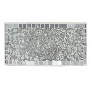 Aplique rectangular mosaico espejo