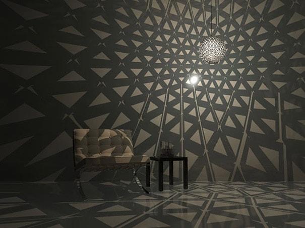 lampara con cajas tetrapack resultado