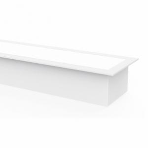 Regleta De Empotrar 40w 3000k Linex Blanco 3200lm 120x6
