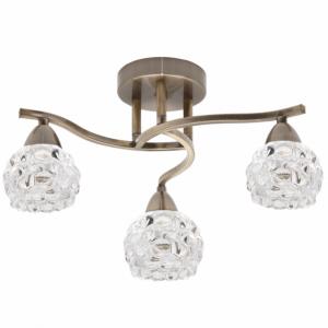 Lampara 3 luces Glass Cuero