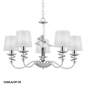 lámpara de techo serie Franca 5 luces