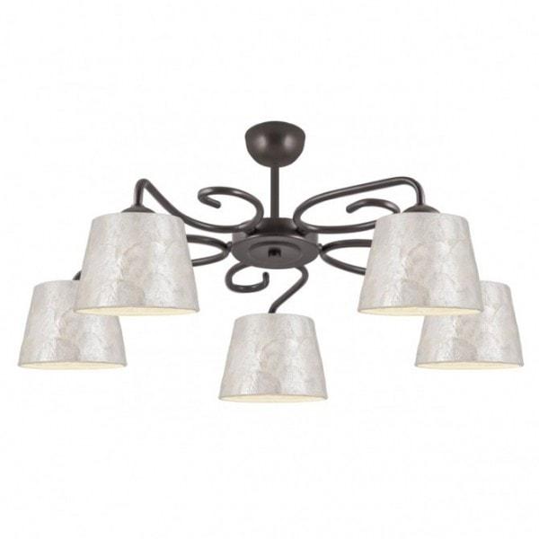 Lámpara Samira 5 luces nácar
