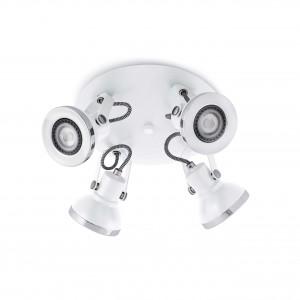 Ring-4 Plafon Blanco 4Xgu10 8W
