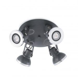 Ring-4 Plafon Gris Oscuro 4Xgu10 8W