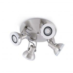 Ring-4 Plafon Niquel Mate 4Xgu10 8W