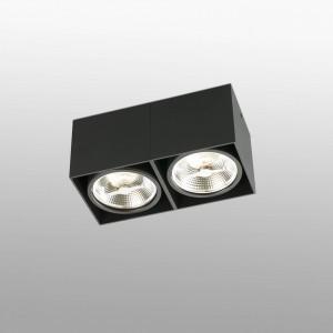 Tecto Plafon Negro 2Xar111 50W