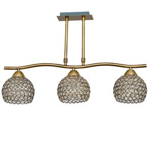 Lámpara Ondas cuero 3 luces copen