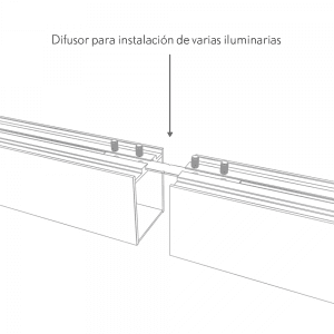 Difusor Para Line X Colgante Luz Directa 5