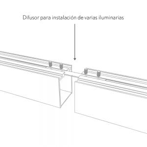 Difusor Para Line X Luz Directa-indirecta  240x3