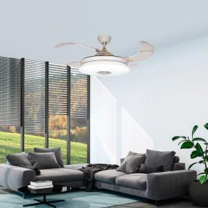 Ventilador de techo con música