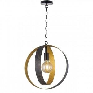 Lámpara colgante Elina Oro 1 x 60W E-27