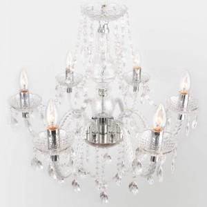 lámpara de araña desde arriba