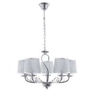 Lámpara Sumba 5xe14 Cromo REGx53x53