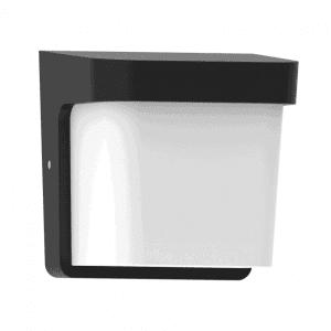 Aplique Exterior Agar 1xe27 Negro  Ip65policarbonato  17x17x14