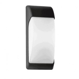 Aplique Exterior Espelta 1xe27 Negro Ip65policarbonato   32x12