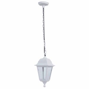 Lámpara colgante Exterior Albahaca 1xe27 Blanco Ip44policarbonato Regx15x15