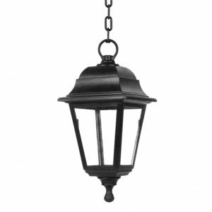 Lámpara colgante Exterior Albahaca 1xe27 Negro Ip44policarbonato Regx15x15