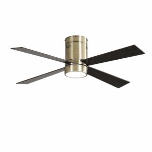 Ventilador 18w Barine Cuero 4 Aspas Roble/cerezo3 Velocid. C/remoto Temporizador 122 D