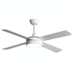 Ventilador 24w Nevery Blanco 4 Aspas Haya/blanca  3 Velocid. C/remoto Temporizador 132 D
