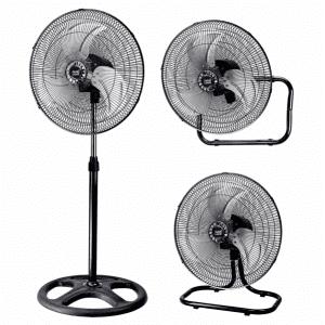 Ventilador 3 En 1 Maloja Cromo/negro 70w 46 D