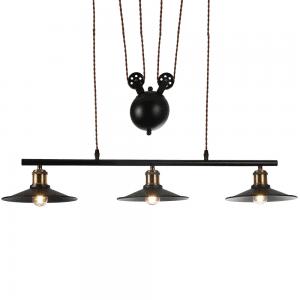 Lámpara Colgante Triguero 3xe27 Negro Regx22x88 Cm
