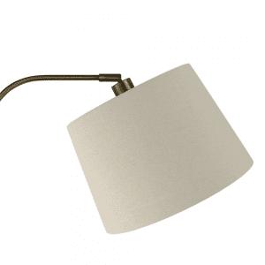 Lámpara de Pie Salon Milad 1xe27 Cuero 161x33x46 Cm  Orientable Amplitud Regulable