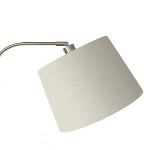 Lámpara de Pie Salon Milad 1xe27 Niquel 161x33x46 Cm  Orientable Amplitud Regulable