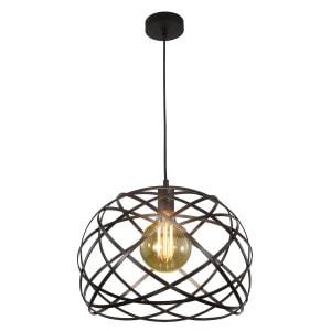 Lámpara colgante Bellona Negro 1X20W E27