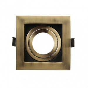 Empotrable Orient.batu 1xgu10 Cuadrado Cuero/negro 0