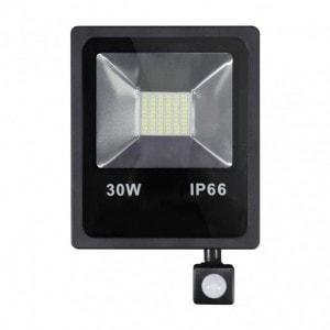 Proyector C/sensor  Olivino 30w 6500k Negro 2700lm  Led Sm Ip66 27