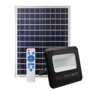 Proyector Solar Malaquita 60w 6500k Negro 5400lm (23x25